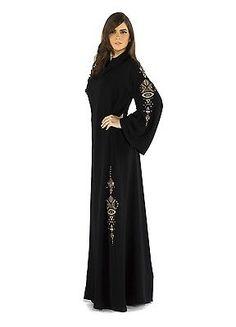 1ff9de353dd Islamic Abaya Burqa Jilbab Hijab Kaftan Beautifu Golden Handwork Scarf-194  in Clothing