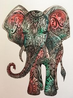 Matte Print of original artwork of the adorable Bohemian Elephant. Hand-drawn, watercolored, and then finished with ink, this zentangle drawing was made with lots of love and brightens up any room. Prints are available in 2 standard sizes: 11 by 14 and 16 by 20 inches. They fit well