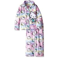Does your little girl love Hello Kitty?  Check out this Girls' Hello Kitty Pajama Set! Click to buy!  | Hello Kitty Clothes for kids | Hello Kitty Clothes Pajama Set | Hello Kitty Clothes Baby | Hello Kitty Clothes Kawaii | #affiliatelink #Hellokitty #sanrio #Hellokittyclothes #pajamaset #Kawaii #girlspajamas  #forkids #hellokittyclothesforkids #girls Hello Kitty Clothes, Hello Kitty Shoes, Hello Kitty Bag, Hello Kitty Collection, Girls Pajamas, Kawaii Clothes, White Outfits, Sanrio, Pjs