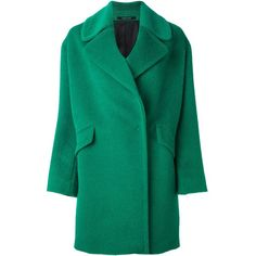Tagliatore 'Agatha' coat (26.185 RUB) ❤ liked on Polyvore featuring outerwear, coats, green, tagliatore and green coat