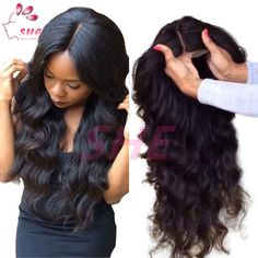 100% Virgin Brazilian Full Lace Wigs / Lace Front Wigs Glueless Body Wave Human Hair Wigs Baby Hair Around For Black Women Online with $72.88/Piece on Sheladyhouse's Store | DHgate.com