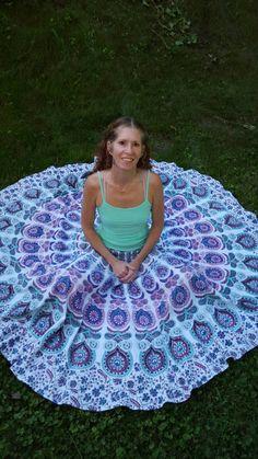 MAXI SKIRT Block Print India Mandala Tapestry by BellBottomBleus