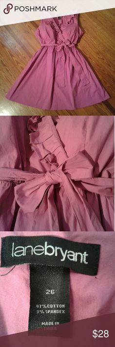 3c424cb8a1f PLUS SIZE Lane Bryant Fuchsia Dress Ruffled. Elastic waistband. Belt. 97%  cotton