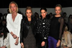 The girls front row at 3.1 Phillip Lim - Fall 2012 Show