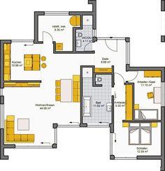Architekten-Haus Fertighaus Finess 118 Grundriss EG