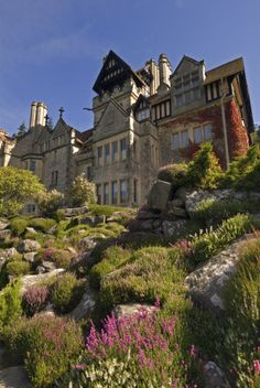 View of the magnificent Rock Garden at Cragside, Morpeth, Northumberland