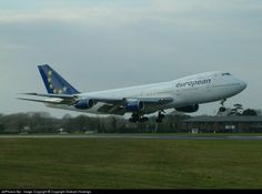 Airline: European Aviation (EAL) Aircraft: Boeing 747-236B Location: Bournemouth-Hurn - EGHH Country: United Kingdom Registration: G-BDXJ     CN: 21831 Photo Date: March 08, 2004