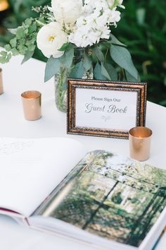 photo: Aaron & Jillian Photography; wedding guestbook table idea