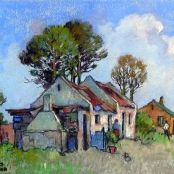 Sold | Theys, Conrad | Cottage in the bush Brighton College, South Africa Art, National Art Museum, South African Artists, Art Society, Corfu, Art Studies, Art School, Flower Art