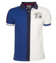 070698d4fb61c Hackett sale cobalt-blue hackett half split short sleeve polo shirt  whitesmoke lauren fragrances