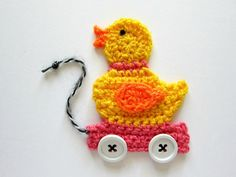 1pc 4 » Crochet PULL rose canard jouet Applique