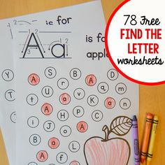 """Free """"find the letter"""" alphabet worksheets! - The Measured Mom Letter B Worksheets, Preschool Worksheets, Pre K Worksheets, Multiplication Worksheets, Grammar Worksheets, Preschool Letters, Alphabet Activities, Learning Activities, Literacy Games"""