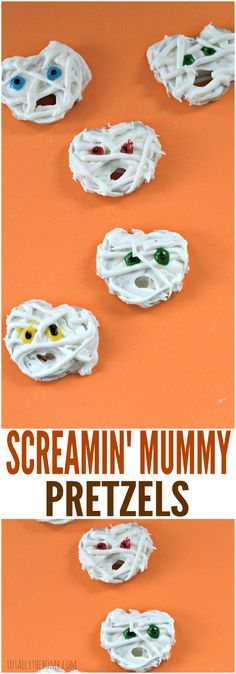 These Screamin' Mummy Pretzels are a scream to make, and your kids will roar with delight! Click now!