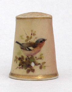 antique thimbles, porcelain thimbles, enamel thimbles