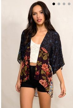 Urban Outfitters - Urban Renewal Patched Blossom Kimono Jacket