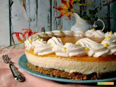 Cheesecake al mango  #ricette #food #recipes