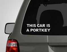 This car is a portkey