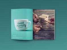 Free Magazine Mockup PSD | Blugraphic | #free #photoshop #mockup #psd #magazine