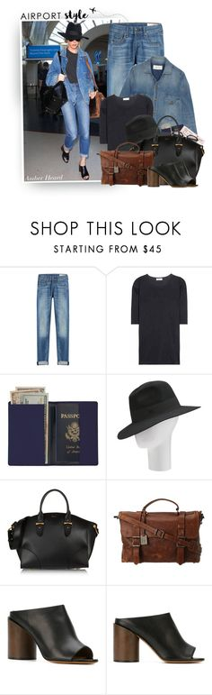 """""""Catch A Flight Like: Amber Heard"""" by hollowpoint-smile ❤ liked on Polyvore featuring rag & bone, Jil Sander, Royce Leather, Maison Michel, Alexander McQueen, Frye and Givenchy"""