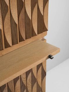 Brutalist Bar-Cabinet in Blond Oak 5
