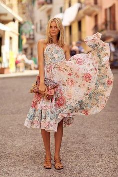 There's nothing more feminine than a flowy floral dress.