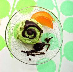 Semifreddo di avocado e clementine con cioccolato
