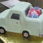 A Delivery Pick-Up Truck Theme Cake.