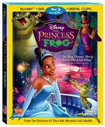Disney's The Princess and the Frog blu-ray/dvd
