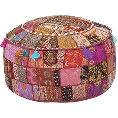 Surya's new patchwork poufs!