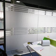 Bloss Etched Privacy Window Film Frosted Glass Static Cling Non Adhesive Window Frost Film for Home Office, x inch Balcony Glass Design, Window Glass Design, Frosted Glass Design, Frosted Glass Window, Glass Sticker Design, Glass Film Design, Office Furniture Design, Office Interior Design, Glass Partition Designs