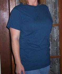 "DIY: Men's T-Shirt Make Over #1 Basic Simple T (""'Not too boxy, not too hoochey hoo!"")"