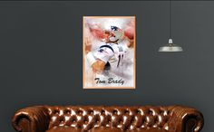 Tom Brady Poster/Canvas, Football Painting, Man Cave Decor, Man Cave Gift, Tampa Bay Buccaneers, Tom Brady the GOAT