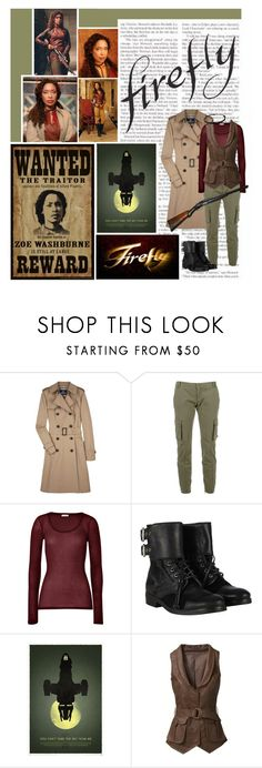 """""""""""Do you know what the definition of a hero is? Someone who gets other people killed. You can look it up later.""""- Zoë Washburne"""" by saint-mercy ❤ liked on Polyvore featuring Aquascutum, D&G, American Vintage, AllSaints, Halloween, contest and DIYHalloween"""