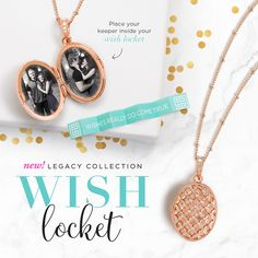 Our Wish Locket has a beautiful Rose Gold basket weave design  and finished in brilliant Swarovski® Crystals http://marshas.origamiowl.com