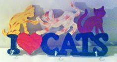 """Chats """"I love cats"""" Accroche torchons"""