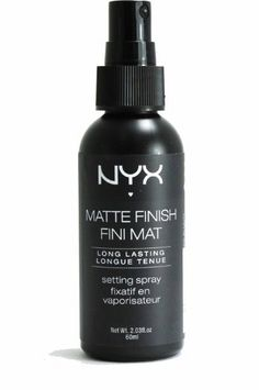 """Cheap Trick: NYX Matte Finish Setting Spray There's nothing we love more than beauty on a budget, especially when the product is actually worth way more than the price tag. """"Cheap Trick"""" is our way of sharing. Read More >> Makeup To Buy, Drugstore Makeup, Makeup Brands, Cheap Makeup, Makeup Cosmetics, All Things Beauty, Beauty Make Up, Nyx Setting Spray, Sephora"""