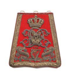 8th (King's Royal Irish) Hussars Officer's Sabretache c1837-1855