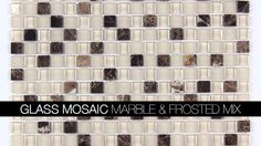 Kitchen Backsplash Glass Mosaic Tiles from AllMarbleTiles.com