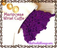 Mariposas Wrist Cuffs – Free Crochet Pattern