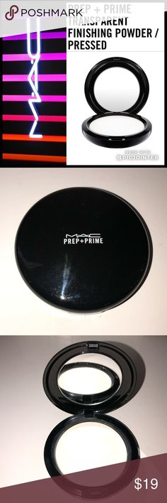 🦋 MAC Prep + Prime Transparent Finishing Powder Used once - long story short - my daughter has me French braid her hair EVERY SINGLE DAY - and so I end up having no time to do my makeup right - wrong is doing makeup in the parking garage of your workplace so you can beat traffic - lol.   A silky, colourless finishing powder suitable for all skin tones that reduces shine. Wear over makeup or on its own. Available in a pressed compact for ease and portability. This product does not come with…