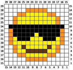 Sunglasses Emoji C2C square and pixel graph
