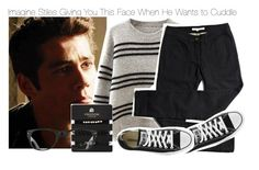 """""""Imagine Stiles Giving You This Face When He Wants to Cuddle"""" by fandomimagineshere ❤ liked on Polyvore featuring Chicnova Fashion, Topshop, Ray-Ban and Converse"""