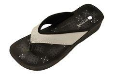 Aerowalk hvid glitter sandal