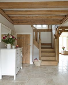 Country chic with a Neutral Modular Tiles Floor....