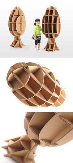 Tsuchinoco toys made of recycled reinforced corrugated fibreboard