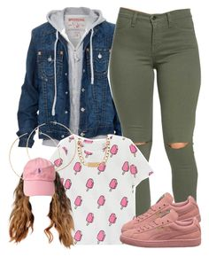 A fashion look from february 2016 by yasnikki featuring true religion, hous Cute Swag Outfits, Chill Outfits, Dope Outfits, Casual Outfits, Green Outfits, Winter Outfits, Fashion Killa, Look Fashion, Teen Fashion