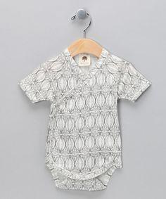 Retro Organic Kimono Bodysuit - Infant by Kate Quinn Organics Boys