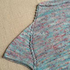 Seanemone Sweater by Botthéka pattern - knitting, crochet, top down, one-piece, rocket shape, Hey! Yarn Two Piece Skirt Set, One Piece, Crochet Top, Knitting Patterns, Shape, Sweaters, Tops, Dresses, Fashion