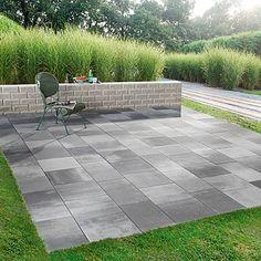 EHL Terrassensystem Trendania Variante 1M (Farbe Mauer: Granit Hell)