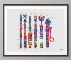 This framed print of sonic screwdriver evolution. | 22 Doctor Who Products Only A Real Fan Will Appreciate